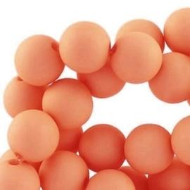 Acryl kralen mat rond 6 mm Licht oranje