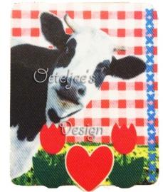 Applicatie Holland koe met tulpjes