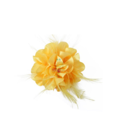 Broche bloem geel