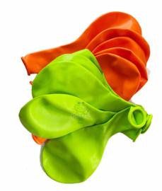 Ballonnen set Kruikenstad oranje groen