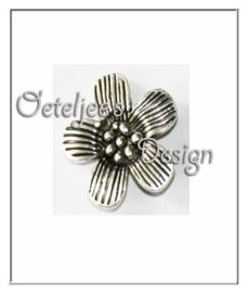 Bedel - bloemetje oudzilverkleur