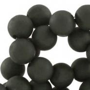 Acryl kralen mat rond 6 mm Diep antraciet grijs