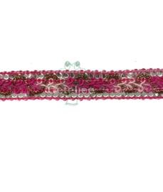 Lurex galon roze / fuchsia tinten