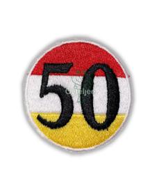 Oeteldonk embleem 50 jaar (Abraham/Sarah)