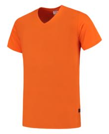 Koningsdag t-shirt oranje V-hals hals korte mouw