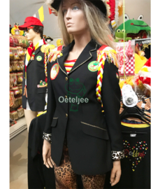 Oeteldonk uniformjasjes dames luxe gepimpt goud