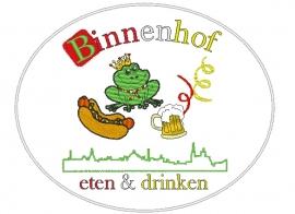 Borduren grote rugemblemen Binnenhof Eten en Drinken