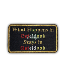"Oeteldonk embleem ""What happens in Oeteldonk .... """