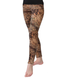 Legging panter/dierenprint one-size