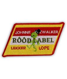 "Oeteldonk embleem ""Johnnie Zwalker rôôd label"""