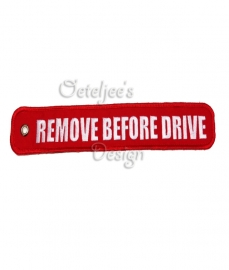 "Produceren labels/sleutelhangers ""Remove before drive"" MMT Amsterdam"