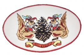 Geborduurde emblemen Döllekesgat