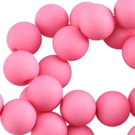 Acryl kralen mat rond 8mm Pink
