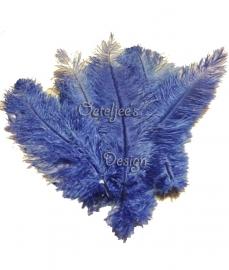 Floss veren (zwarte piet veren) blauw