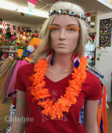 Hawaii slinger/krans oranje