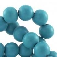 Houten kralen rond 8 mm Sea blue turquoise