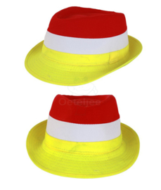 Oeteldonk kojak hoedje rood wit geel
