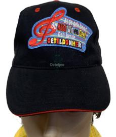 """Oeteldonkse cap met rood wit geel embleem """"Oeteldonker"""""""