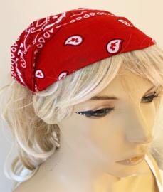 "Haarband / bandana ""Rode zakdoek"""