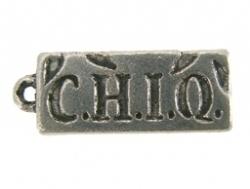 Bedel - Tekst CHIQ metaal oudzilverkleur