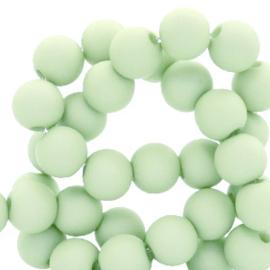 Acryl kralen mat rond 8mm  matt Mint groen
