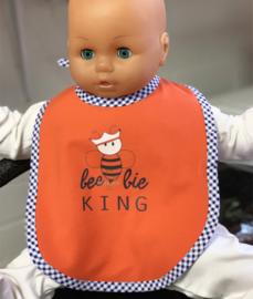 Oranje Koningsdag baby slabbetje beebie King