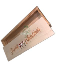 "Oeteldonks wijnkistje ""Merry Christmas"""