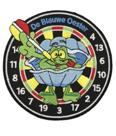 Borduren emblemen vriendengroep De Blauwe Oester