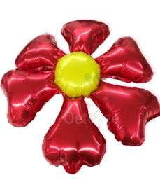Folie ballon bloem rood