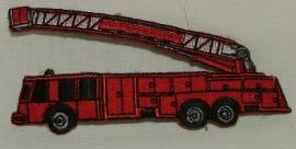 Opstrijkbare applicaties - Brandweerwagen ladder