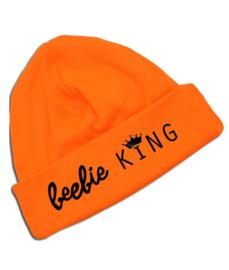 """Oranje Koningsdag babymutsje """" beebie KING"""""""