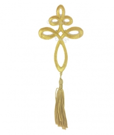 Ornament goud met flosje