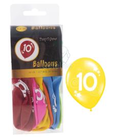 Ballonnen set verjaardag 10 jaar