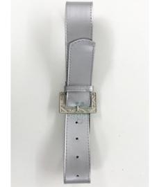Riem zilverkleur met metalen gesp
