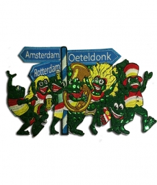 Geborduurd embleem Oeteldonk Amsterdam Rotterdam groot