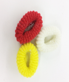 Oeteldonkse haar elastiekjes rood wit geel