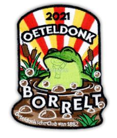 "Embleem Oeteldonksche Club 2021 ""Oeteldonk borrelt"" groot"