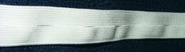 Knoopsgatenelastiek wit, 20 mm