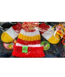 Cadeauset  Oeteldonk met gepimpt kieltje rood wit geel meisje ( Mèske )