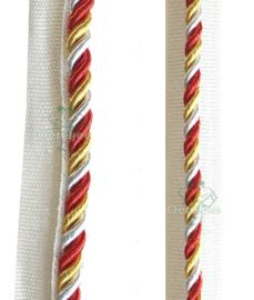 Paspelband rood wit geel Oeteldonk