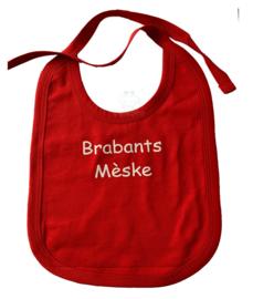 Brabants slabbetje met opdruk Brabants Mèske