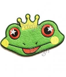 Smilende kikker met kroon