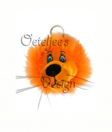Oranje leeuwtje sleutelhanger