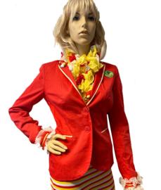 Oeteldonkse dames jas gepimpt rood maat S - 08