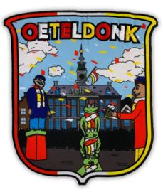 Oeteldonk embleem Knillis op Markt voor stadhuis (groot)