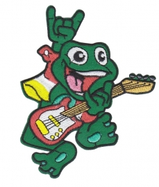 Embleem Oeteldonk kikker gitaar