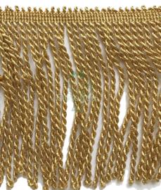 Franjeband goud lurex 13 cm