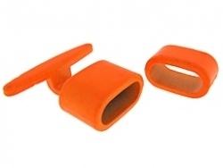 Haakslot metaal neon oranje