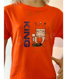Oranje Koningsdag shirt jongen opdruk King