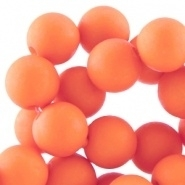 Acryl kralen mat rond 8 mm Fusion coral orange